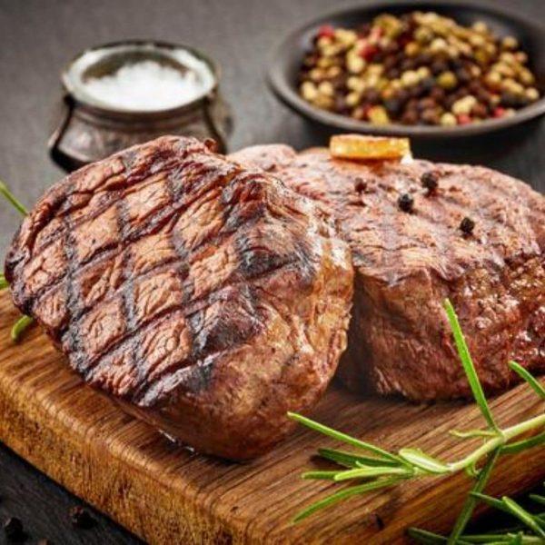 Cooked Angus beef fillet tenderloin steak