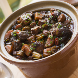 Oxtail stewing